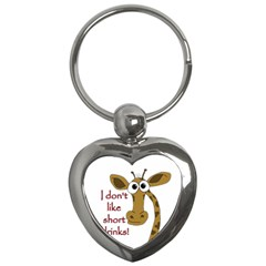 Giraffe Joke Key Chains (heart)