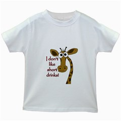 Giraffe Joke Kids White T Shirts