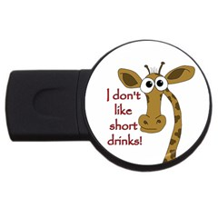 Giraffe Joke Usb Flash Drive Round (2 Gb)