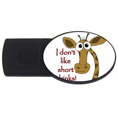 Giraffe Joke Usb Flash Drive Oval (2 Gb)