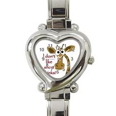 Giraffe Joke Heart Italian Charm Watch