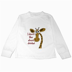 Giraffe Joke Kids Long Sleeve T Shirts