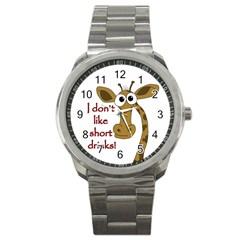 Giraffe Joke Sport Metal Watch