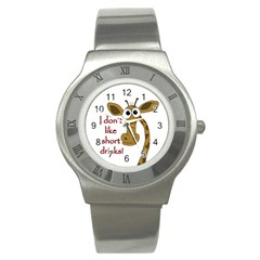 Giraffe Joke Stainless Steel Watch