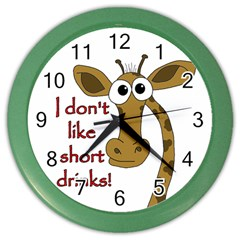 Giraffe Joke Color Wall Clocks