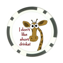 Giraffe Joke Poker Chip Card Guards