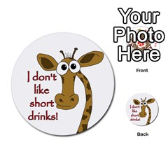 Giraffe Joke Multi Purpose Cards (round)