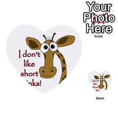 Giraffe Joke Multi Purpose Cards (heart)