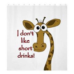 Giraffe Joke Shower Curtain 66  X 72  (large)
