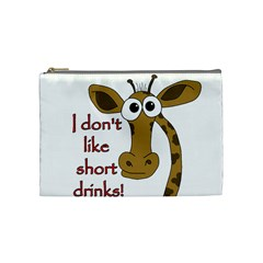 Giraffe Joke Cosmetic Bag (medium)