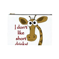 Giraffe Joke Cosmetic Bag (large)