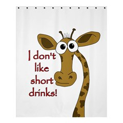 Giraffe Joke Shower Curtain 60  X 72  (medium)
