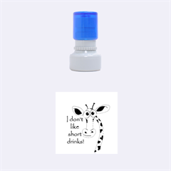Giraffe Joke Rubber Round Stamps (small)