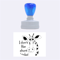 Giraffe Joke Rubber Oval Stamps