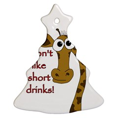 Giraffe Joke Christmas Tree Ornament (2 Sides)