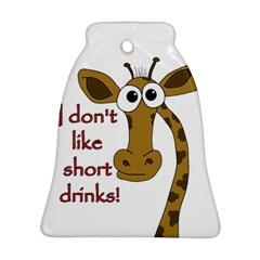 Giraffe Joke Bell Ornament (2 Sides)