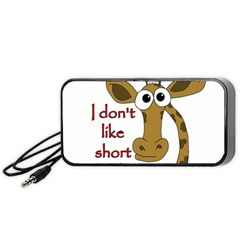 Giraffe Joke Portable Speaker (black)