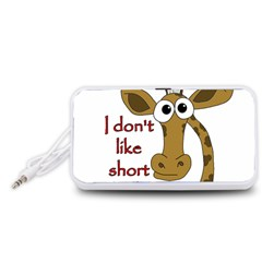 Giraffe Joke Portable Speaker (white)