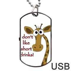 Giraffe Joke Dog Tag Usb Flash (one Side)