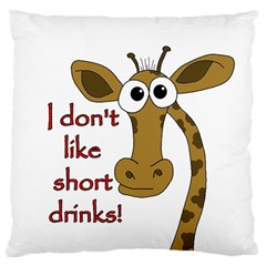 Giraffe Joke Large Cushion Case (one Side)