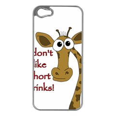 Giraffe Joke Apple Iphone 5 Case (silver)