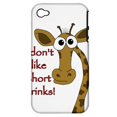 Giraffe Joke Apple Iphone 4/4s Hardshell Case (pc+silicone)