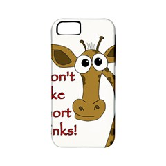 Giraffe Joke Apple Iphone 5 Classic Hardshell Case (pc+silicone)