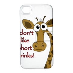 Giraffe Joke Apple Iphone 4/4s Hardshell Case With Stand