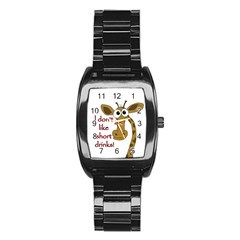 Giraffe Joke Stainless Steel Barrel Watch