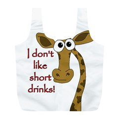 Giraffe Joke Full Print Recycle Bags (l)