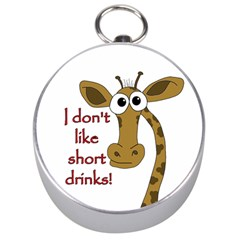 Giraffe Joke Silver Compasses