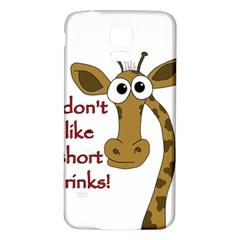 Giraffe Joke Samsung Galaxy S5 Back Case (white)