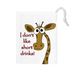 Giraffe Joke Drawstring Pouches (large)