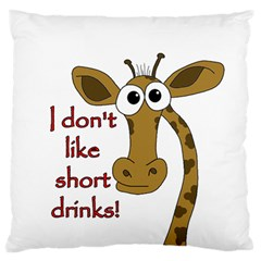 Giraffe Joke Standard Flano Cushion Case (two Sides)