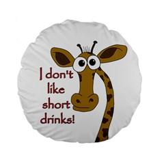Giraffe Joke Standard 15  Premium Flano Round Cushions