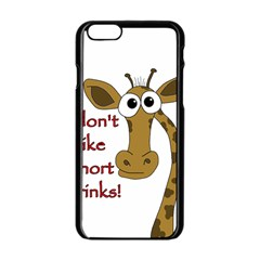 Giraffe Joke Apple Iphone 6/6s Black Enamel Case