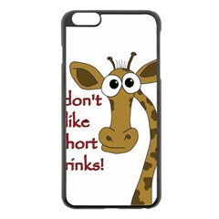 Giraffe Joke Apple Iphone 6 Plus/6s Plus Black Enamel Case