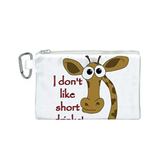 Giraffe Joke Canvas Cosmetic Bag (s)