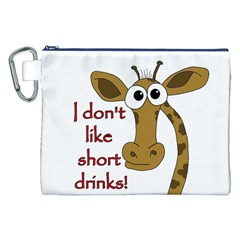 Giraffe Joke Canvas Cosmetic Bag (xxl)