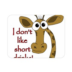 Giraffe Joke Double Sided Flano Blanket (mini)
