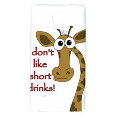 Giraffe Joke Galaxy Note 4 Back Case