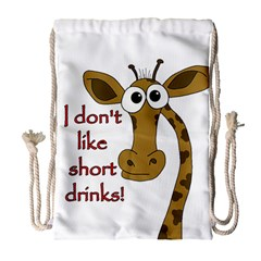 Giraffe Joke Drawstring Bag (large)