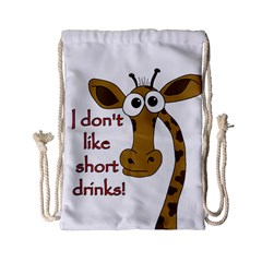 Giraffe Joke Drawstring Bag (small)