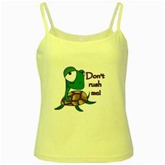 Turtle Joke Yellow Spaghetti Tank