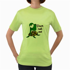 Turtle Joke Women s Green T Shirt