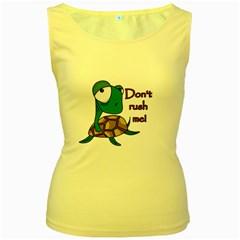 Turtle Joke Women s Yellow Tank Top