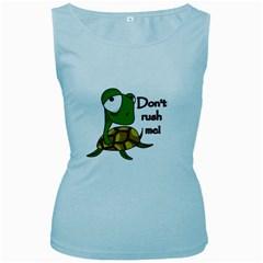 Turtle Joke Women s Baby Blue Tank Top