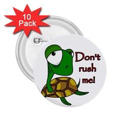 Turtle Joke 2 25  Buttons (10 Pack)