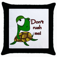 Turtle Joke Throw Pillow Case (black)