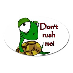 Turtle Joke Oval Magnet